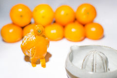 Man from mandarine. Man figure made from mandarine Royalty Free Stock Photography