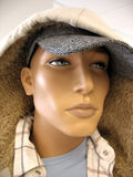 Man Mannequin. A closeup shot of the face on a trendy male mannequin Royalty Free Stock Images