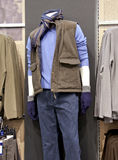 Man mannequin in shop. Interior Royalty Free Stock Photos