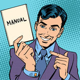 Man manual Royalty Free Stock Photos