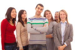 Man with Many Women Royalty Free Stock Images