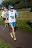 Man during Marathon of the Epiphany, Rome, Italy Stock Photography