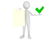 man mark paper sheet showing tick Стоковые Фото