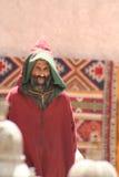 Man in market in Essaouira, Morocco. Berber man in the zouk in Essaouira, Morocco Royalty Free Stock Image