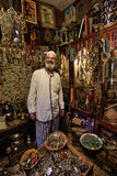 Man in a market, Marrakesh, Morocco. Unknown man in a market (souk), August 08, 2015 in a Marrakesh, Morocco. The traditional Berber market is one of the most Royalty Free Stock Image