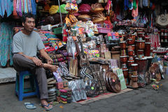 Man at the market in Ubud Stock Images