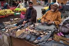 Man in  Marocco   food market Stock Images