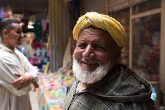 Man in  Marocco   food market Royalty Free Stock Photography