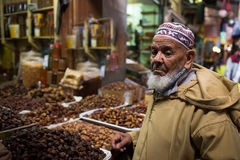 Man in  Marocco   food market Stock Photo