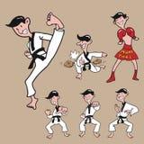 Man martial art set Royalty Free Stock Photo
