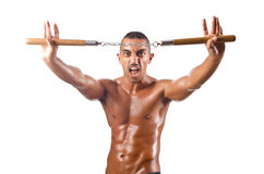 Man in martial arts concept Stock Image