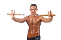 Man in martial arts concept Stock Photos