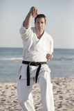 Man in a martial arts uniform Royalty Free Stock Images