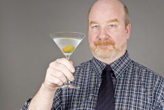 Man with Martini Royalty Free Stock Image
