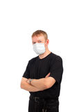 Man in the mask Stock Image