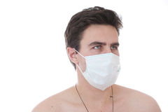 Man and mask Stock Image