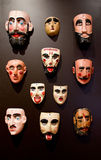 Man mask. Set of mask of men, in mexico Royalty Free Stock Photography