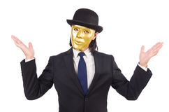 Man with mask Stock Photo