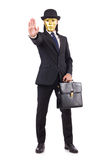 Man with mask Stock Image