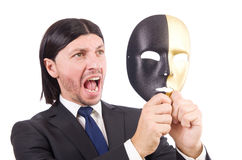 Man with mask Royalty Free Stock Image