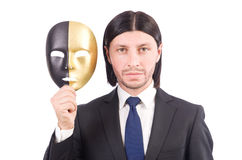 Man with mask Stock Photography