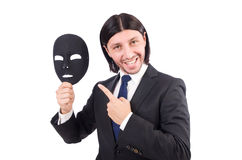 Man with mask Royalty Free Stock Photo