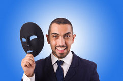 Man with mask isolated on the white Stock Photography