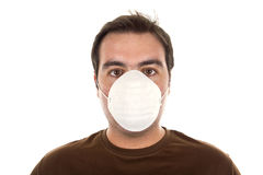 Man with mask -  pollution concept. Man with mask - life in today's world, pollution concept Stock Image