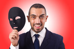 Man with mask. On white Stock Images