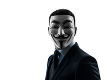Man masked anonymous group silhouette portrait Stock Photography