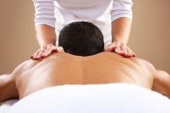 Man Massage royalty free stock photos