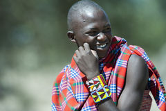 Man of the Maasai Tribe in Tanzania Royalty Free Stock Image