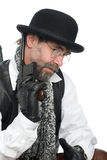 Man with a Mauser Stock Photo