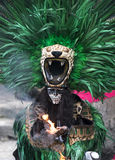 Man in Maya indian costume in Tulum, Mexico. Tulum, Mexico, March 15th, 2017: Man in Maya indian costume in Tulum, Mexico stock photos