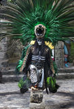 Man in Maya indian costume in Tulum, Mexico. Tulum, Mexico, March 15th, 2017: Man in Maya indian costume in Tulum, Mexico royalty free stock photos
