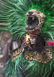 Man in Maya indian costume in Tulum, Mexico. Tulum, Mexico, March 15th, 2017: Man in Maya indian costume in Tulum, Mexico stock image