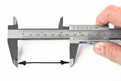 Measurement With Caliper Stock Photography