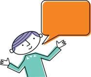 Man med anförandebubblan Vektor Illustrationer