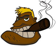 Man med cigarren Arkivbilder