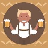 Man med en råna av öl vektor illustrationer