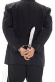 Man med handbojan och kniven Royaltyfri Fotografi