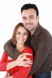 Man med hans armar runt om hans fru Royaltyfria Foton