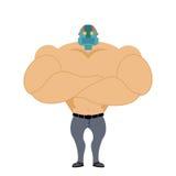 Man med huvudet av roboten Cyborg Android Mekanisk head man _ Royaltyfria Bilder