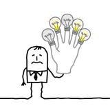 Man med ingen mer idéer eller energi Arkivbild