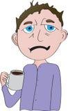 Man med kaffe Arkivbild