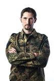 Man med kamouflage Royaltyfri Bild