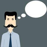 Man med mustaschen Arkivfoton
