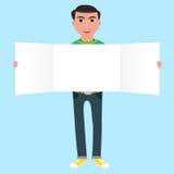 Man med papper Arkivfoto