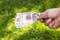 Man med pengar Arkivfoton