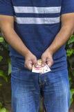 Man med pengar Royaltyfri Fotografi